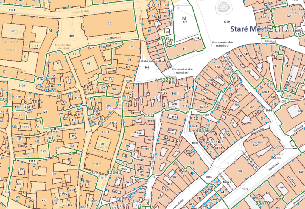 cenová mapa stavebních pozemků Praha